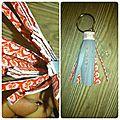porte clef gris et rouge