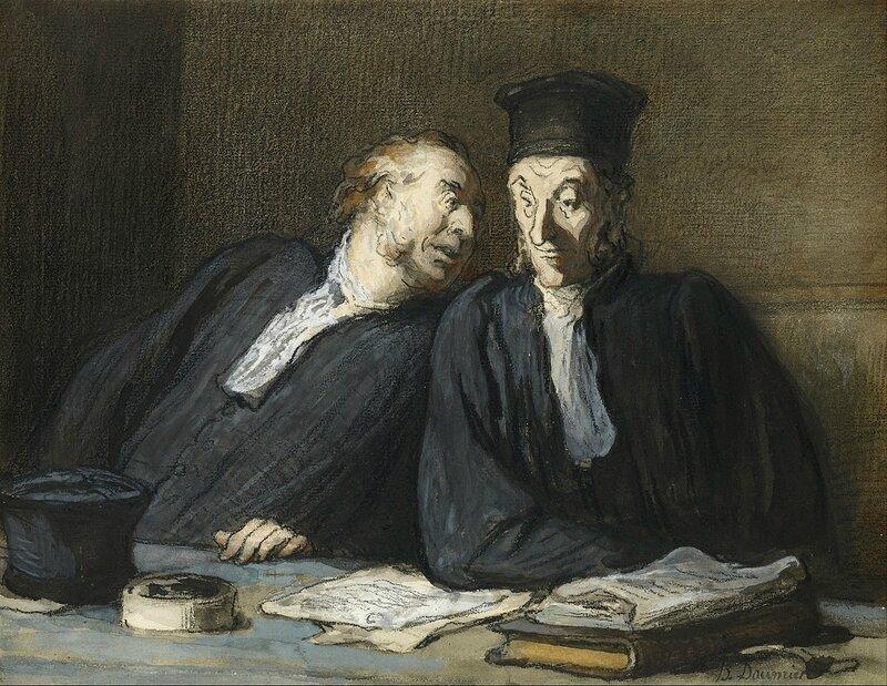 Honoré_Daumier_-_Two_Lawyers_Conversing_-_Google_Art_Project