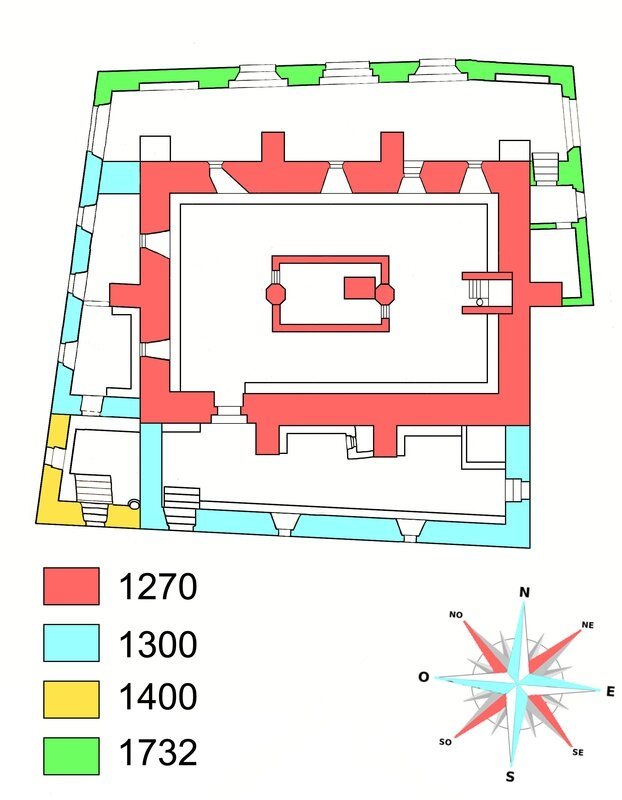 Prague synagogue Vieille-Nouvelle plan 1