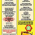Téléthon 2012 à courpière, le programme