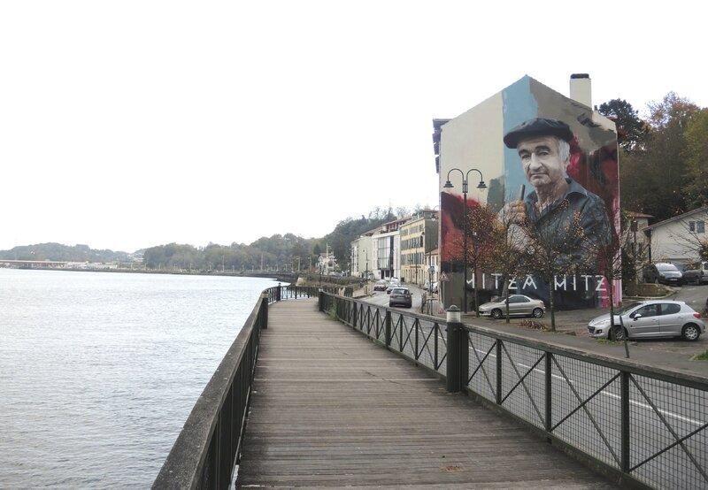 Bayonne, Street Art point de vue, fresque Sismikazot