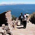 Départ de Taquile par une descente de 547 marches