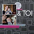 [challenge mai scrapbookit] tatie & toi