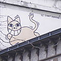 Street art : mr chat - paris 12ème -