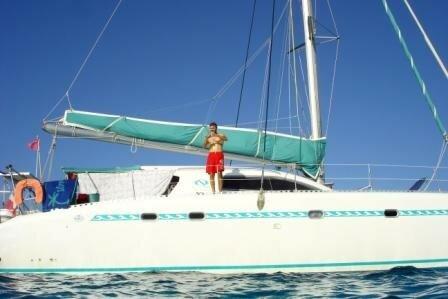 Raph sur bateau