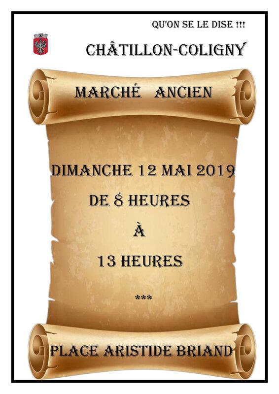 AFFICHE MARCHE ANCIEN DU 12 MAI 2019