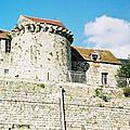 Domfront, cité médiévale, Orne, Normandie, vue panoramique rue des Fossés Plisson
