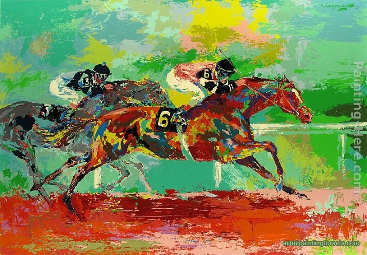 Leroy Neiman The Race Painting