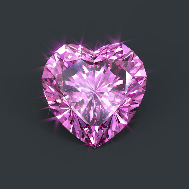 diamant-rose-d-isolement-en-forme-de-coeur-51129439