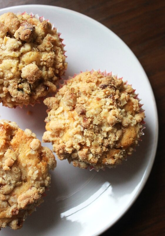 Muffins pomme caramel crumble2