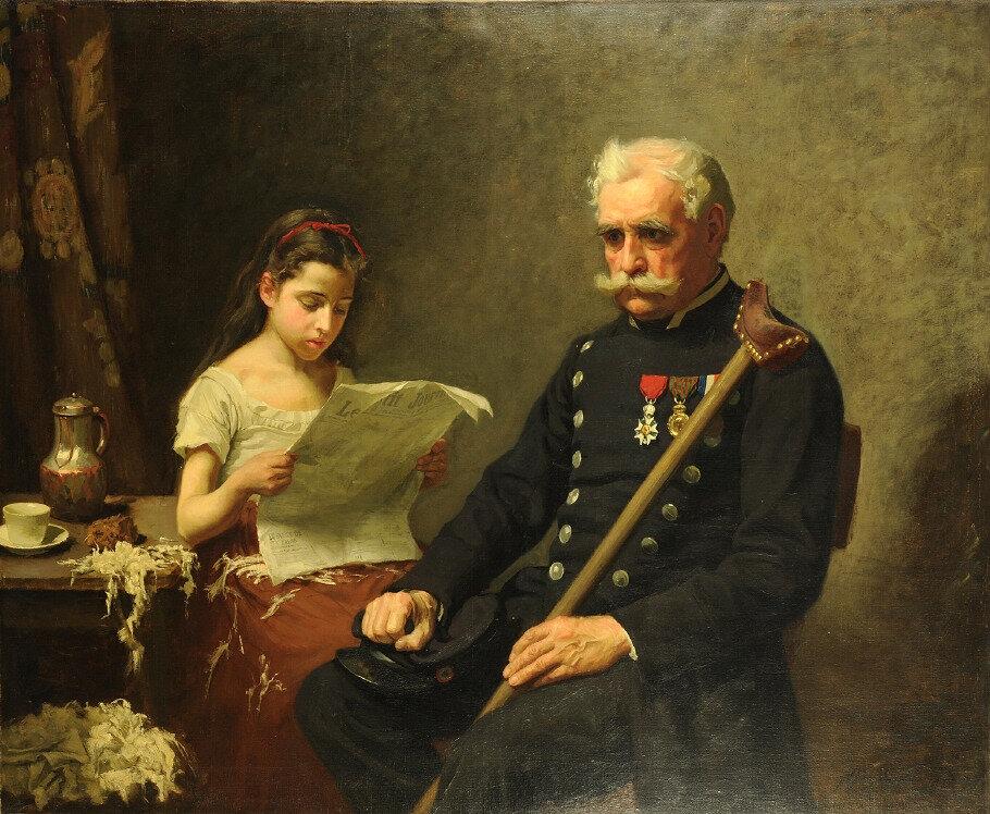Forsberg (Nils), Le grand-père écoute les mauvaises nouvelles de la guerre (1875)
