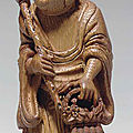 A small bamboo carving of an immortal, 18th century