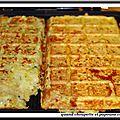 Gaufres pommes de terre - courgettes