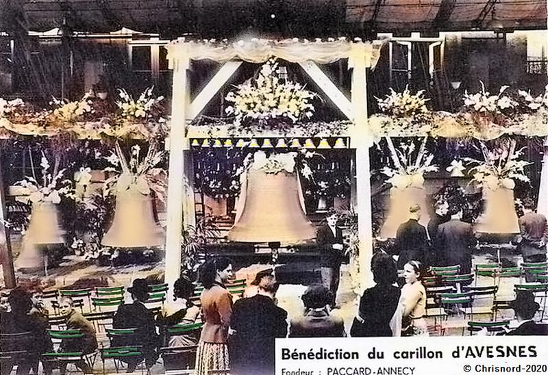 AVESNES SUR HELPE -Bénédiction du carillon