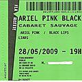 Liars / black lips / ariel pink - jeudi 28 mai 2009 - cabaret sauvage (paris)