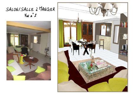Salon-salle à manger vue 2 - avant-apres
