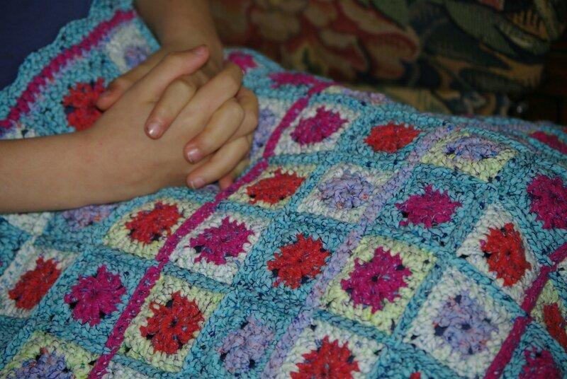 Tête de lit granny au crochet