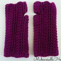 Snood_mitaines violet 1