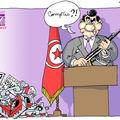 Après le massacre, ben ali s'exprime