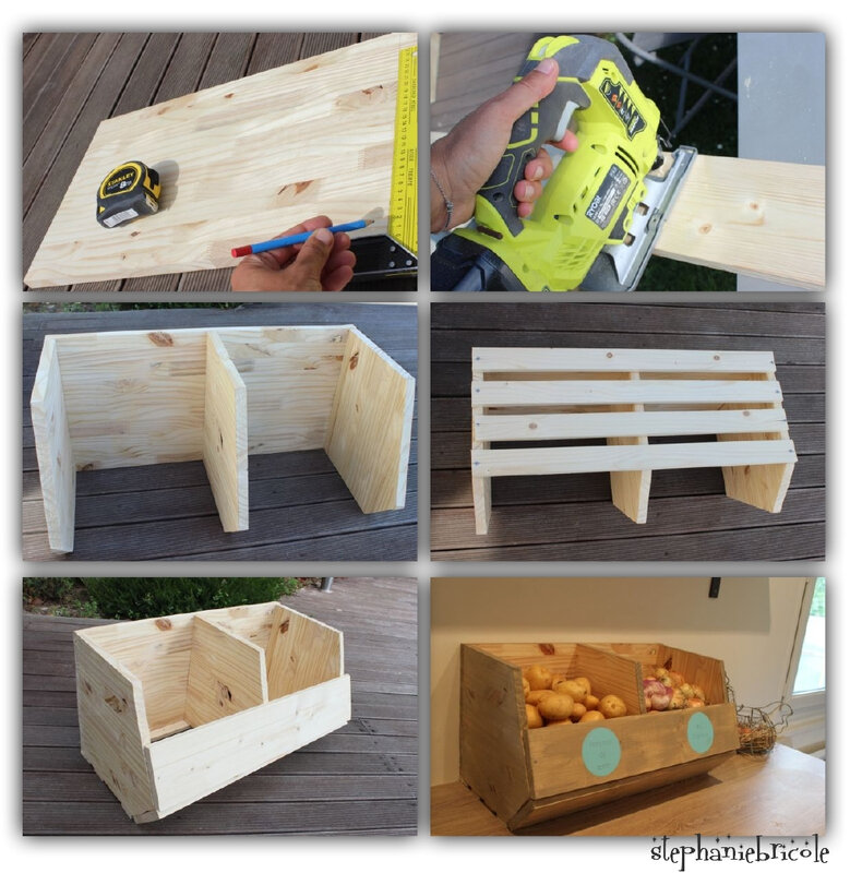 diy d co rangement pour les fruits et l gumes st phanie bricole. Black Bedroom Furniture Sets. Home Design Ideas
