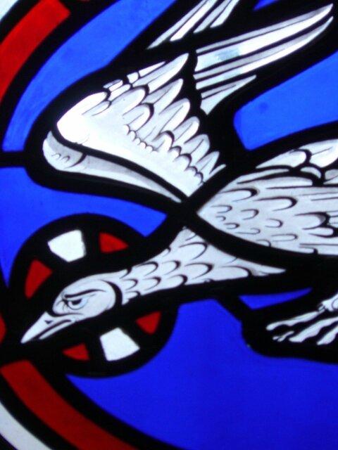 Oiseau vitrail