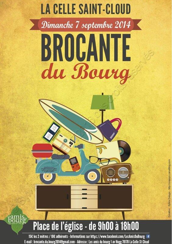Affiche Brocante Bourg 2014 - filigrane