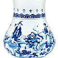 A blue and white 'immortals' vase, qing dynasty, 18th century