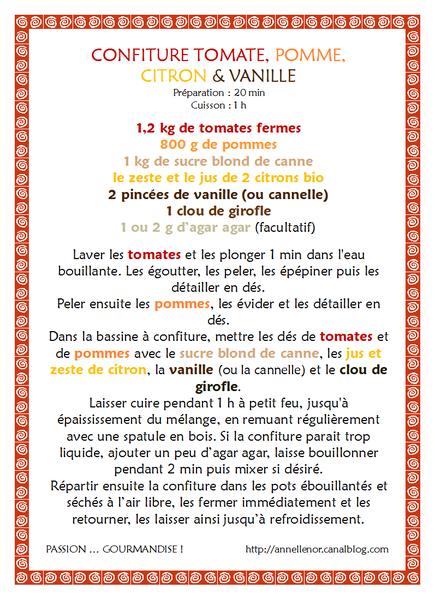 Confiture tomate, pomme, citron & vanille_fiche
