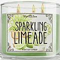 Sparkling limonade, bath and body works