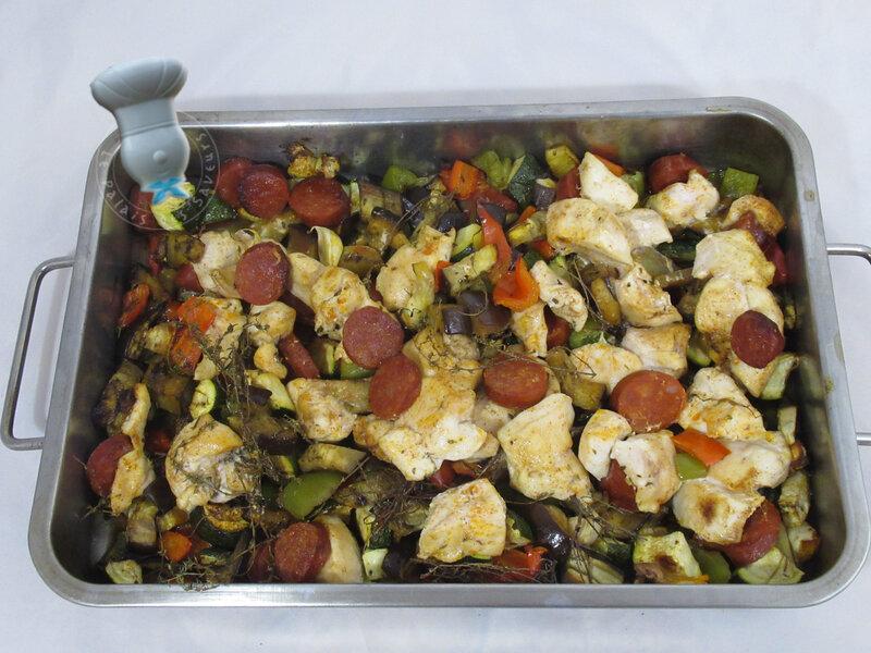 Légumes confits au poulet et paprika
