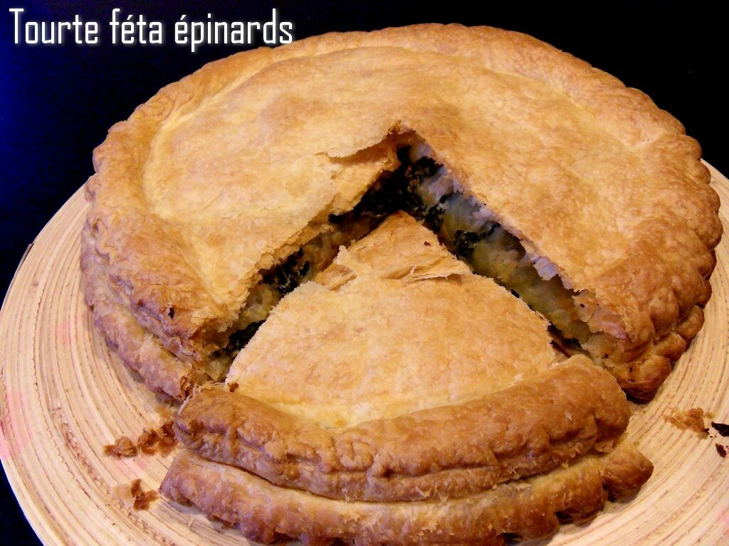 tourte féta épinards