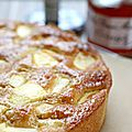 Gâteau simple et bon pommes-verveine {recette}