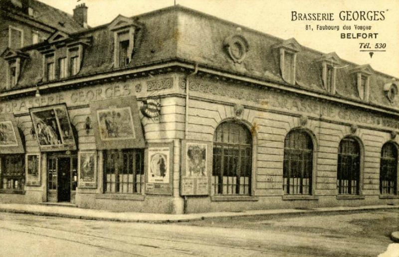 Belfort CPA Fbg Vosges n°81 Brasserie Georges AD90