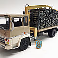 Berliet gr 260 transport de bois. 1973. ixo pour hachette. collection berliet. #36. 1/43.