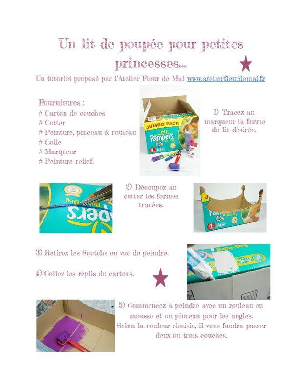 Tutoriel lit de poupée Atelier Fleur de Mai page 1