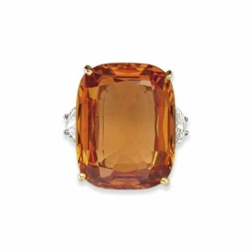 A Topaz and Diamond Ring by Cartier