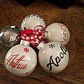 Xmas is coming...par ici les boules de noël et les stickers personnalisés by les bricoles de doudou