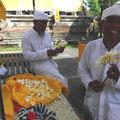 Préparation d'une cérémonie au temple