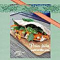 Pain pita poulet gouda & carottes