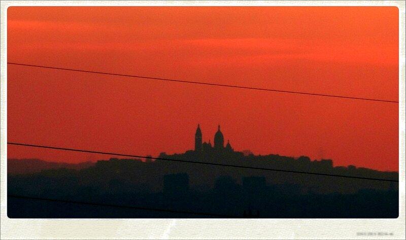 Vue Montmartre matin hiver photo valerie albertosi effet