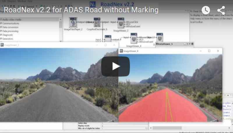 NEXYAD Adas Road detection with RoadNex - no markings