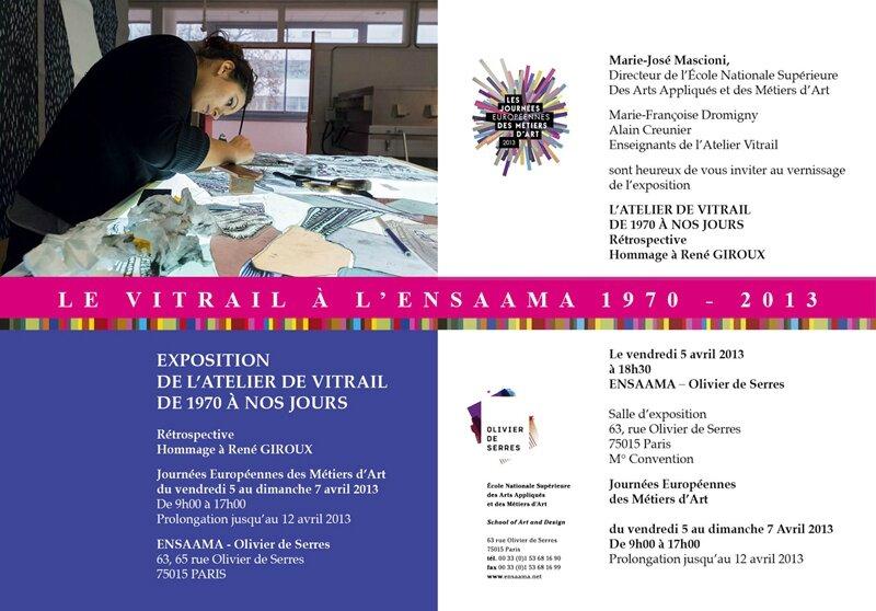 invitation retrospective vitrail