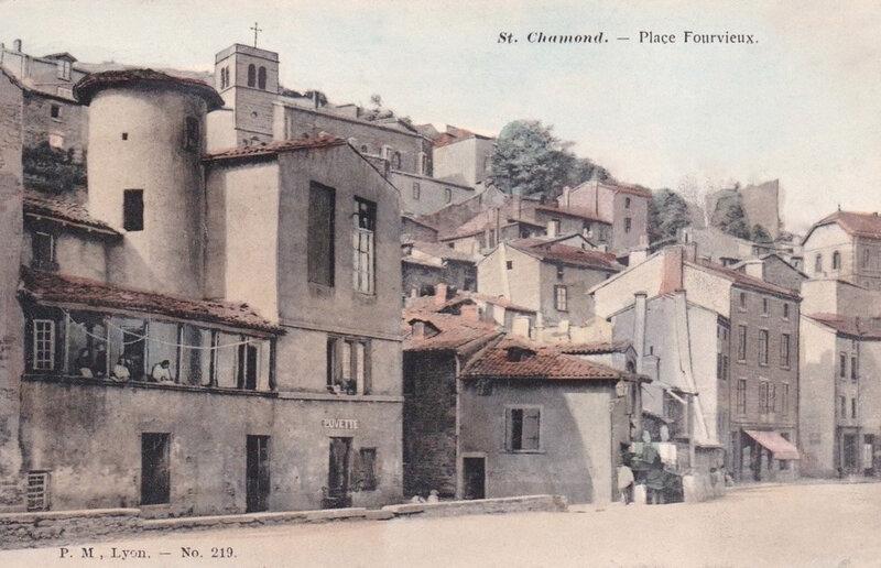 place Fourvieux, cpa colorisée
