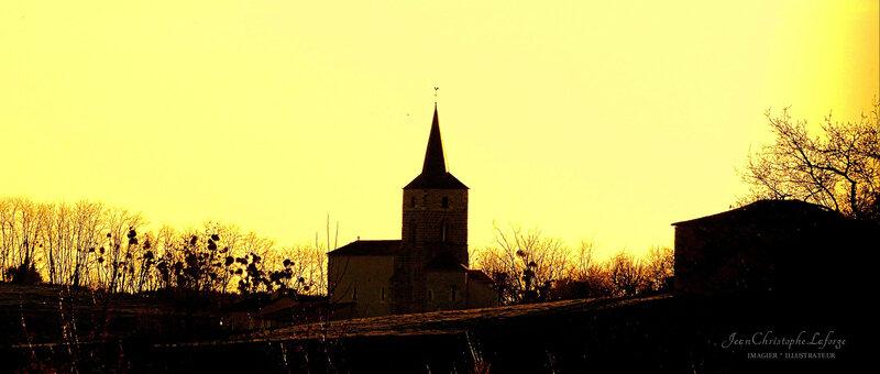 3 Orgedeuil clocher soir 03-08
