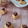 Mini pyramides amandes / chocolat