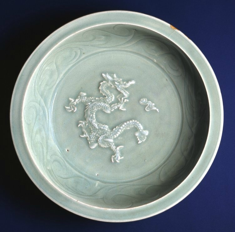'Dragon' dish, Yuan dynasty, circa 13th-14th century