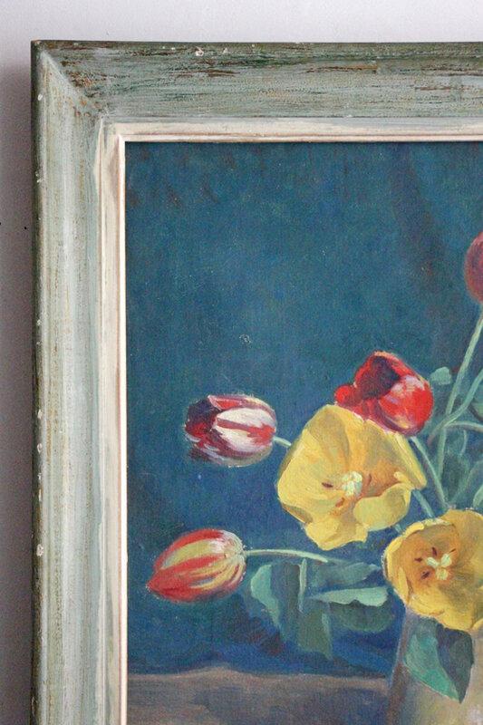 tableau-ancien-bouquet-detail