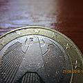 1€ 2002 g fautée