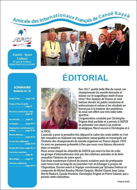 Bulletin AIFCK 70 décembre 2017