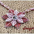 Collier simply seeds et beaded dahlia